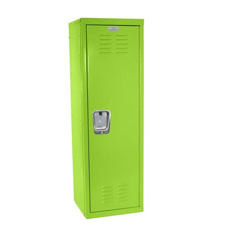 kids green locker for mudroom or playroom 15 quot d x 15 quot w x 48 quot h