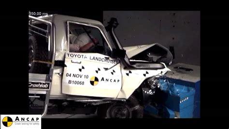 toyota landcruiser  series  ancap crash test youtube