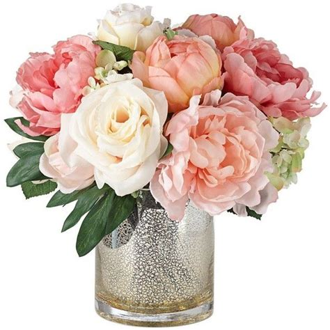Vase Stand Decor Vase Flower Vase by Peonies Roses And Hydrangeas In A Large Mercury Glass