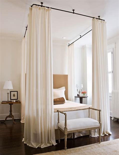 canap beddinge dramatic bed canopies and draperies traditional home