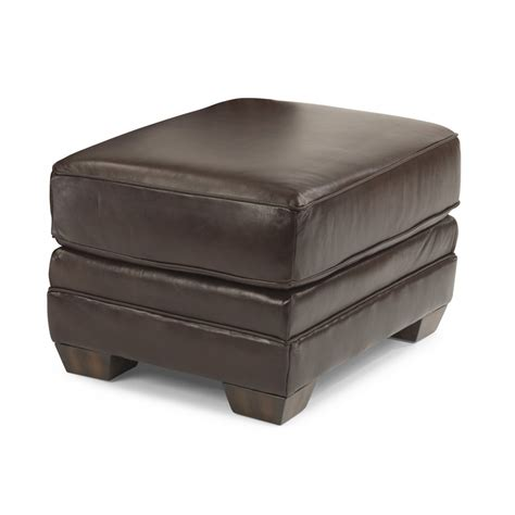 ottoman with nailhead trim flexsteel 3270 08 harrison leather ottoman with nailhead