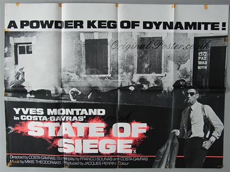 the state of siege state of siege original vintage poster original