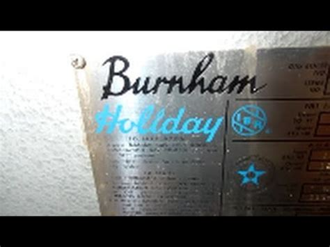 gas burnham holiday boiler  leaking radiator bleader