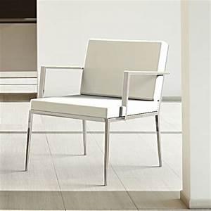 Fauteuil Design Blanc : petit fauteuil blanc maison design ~ Teatrodelosmanantiales.com Idées de Décoration