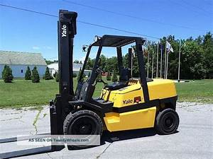 2004 Yale Gdp100 Lift Truck Yard Forklift Towmotor Fork