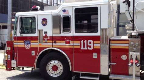 Brand New Fdny Tower Ladder 119 Waiting To Be Delivered Or