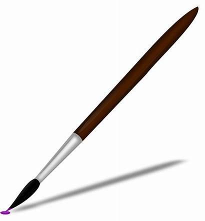 Brush Paint Paintbrush Clipart Transparent Vector Clip