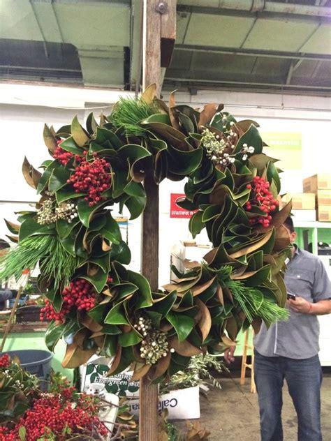 diy magnolia wreath cheap christmas decor  yard