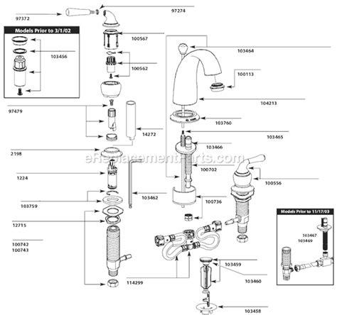 arbor kitchen faucet moen t4572 parts list and diagram ereplacementparts com