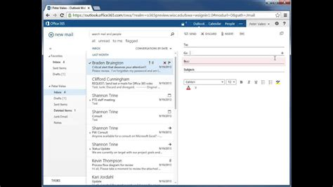 Office 365 Webmail by Send An Email Message Office 365 Outlook Web App Email