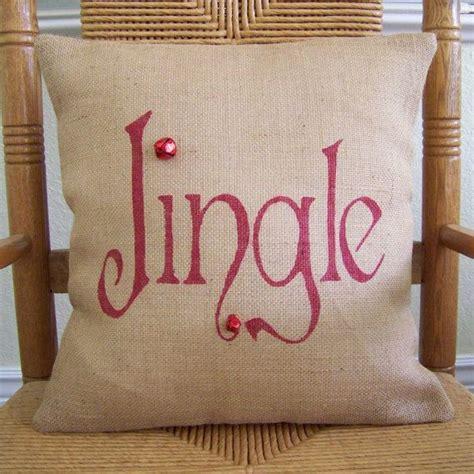jingle pillow christmas pillow burlap pillow cover