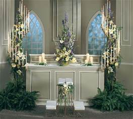 wedding altar decorations simple church wedding decorations or just a floral arrang