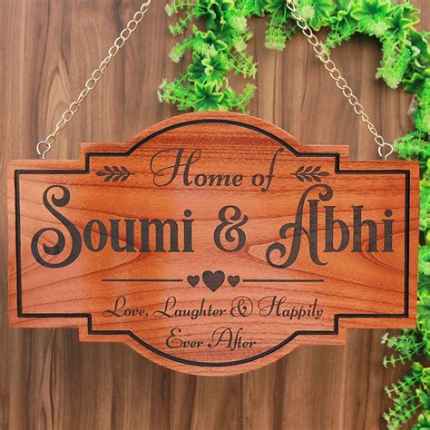 personalized home sign  couples  signs hanging