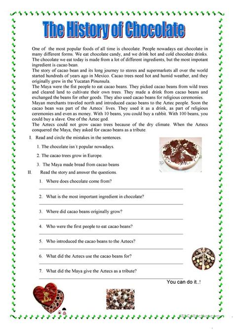 reading comprehension worksheet free esl printable