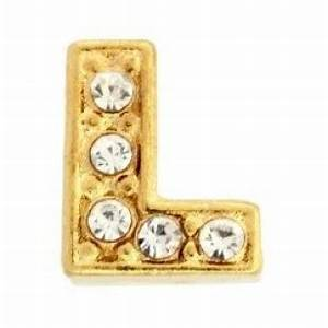 letter l charm gold With gold letter l
