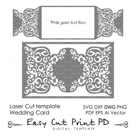 laser cut l template wedding invitation pattern card template shutters gates doors