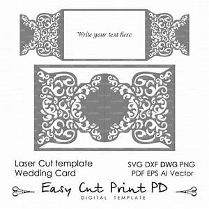 Wedding invitation pattern card template shutters gates for Laser cut wedding invitations dxf