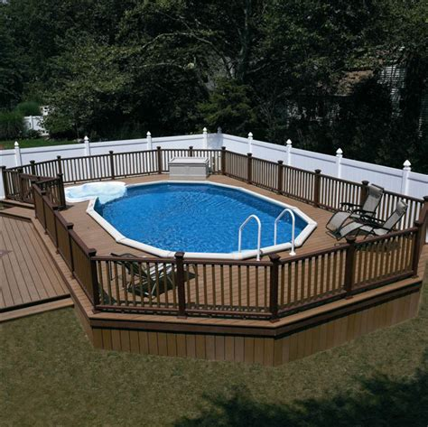above ground pool deck gallery semi above ground pool designs studio design gallery