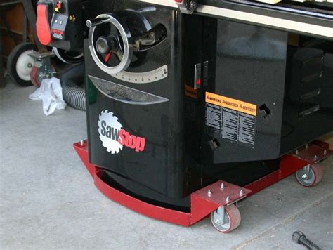 Cabinet Table Saw Mobile Base by Mobile Base For Sawstop But It S Not Wood By Rob Drown