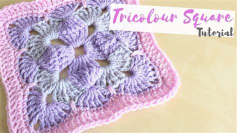 crochet tricolour square tutorial bella coco youtube