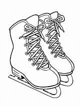 Skates Mycoloring Ausmalbilder Schlittschuhe sketch template