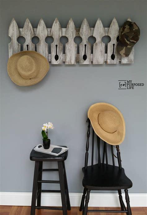 picket fence coat rack  repurposed life rescue