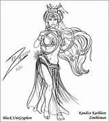 Blackunigryphon Belly Deviantart Dancers Dancer sketch template