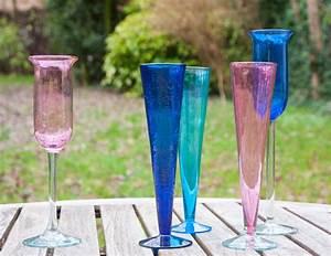 Flûtes à Champagne Originales : fl tes champagne verre souffl l gance et couleur au ~ Teatrodelosmanantiales.com Idées de Décoration