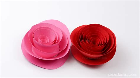 easy and easy papercraft rose instructions paper kawaii