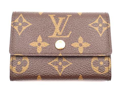 Louis vuitton monogram vintage card case credit business pass case wallet. Louis Vuitton #24173 Damier Ebene Business Card Holder Coin Change Credit Card Flap Wallet - Tradesy