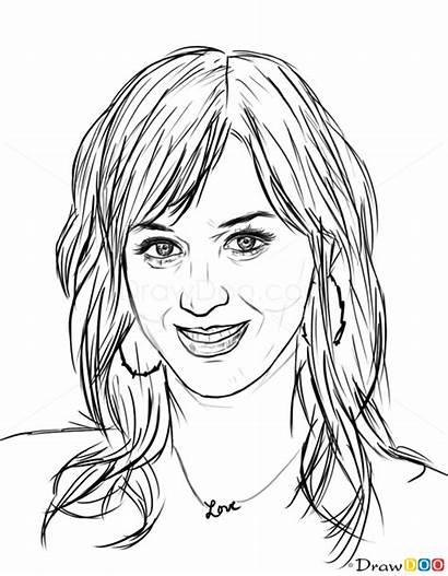 Perry Katy Draw Celebrities Drawing Step Webmaster