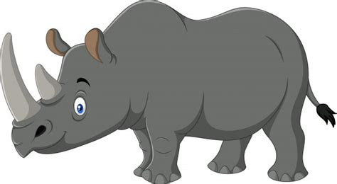 Rhino Cartoon Illustration