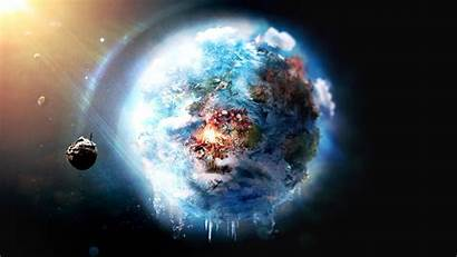 Planet Wallpapers Backgrounds Earth Future Space Frozen