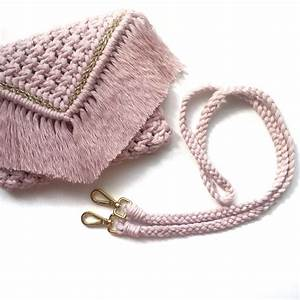 Macrame Clutch Pattern  Tutorial   Straps And Weaving