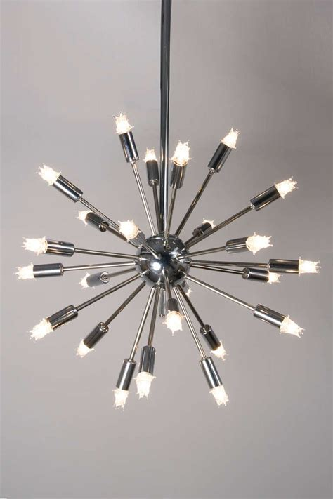 chrome sputnik chandelier twenty five arm chrome sputnik chandelier at 1stdibs