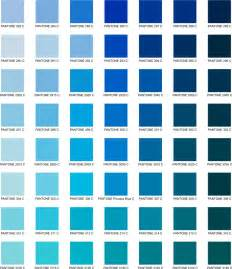 Blue Pantone Color Chart