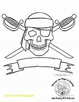 Pirate Flag Coloring Pages Getdrawings Skull sketch template