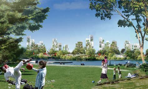 un projet de ville parc 224 la courneuve au nord de am 233 nagement