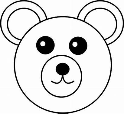 Bear Coloring Teddy Kleurplaat Clipart Svg Beer