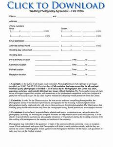 free printable wedding photography contract template form With wedding photo release form