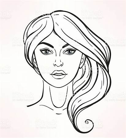 Face Drawing Makeup Faces Template Female Blank