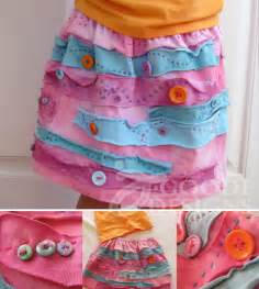 Recycled T-Shirts into Skirt
