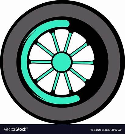 Wheel Cartoon Icon Vector Royalty Tyre Vectors