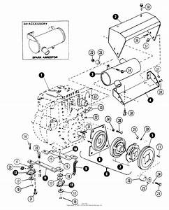 Snapper 1600  80024  16 Hp Gear Drive Garden Tractor  Mf  Parts Diagram For Engine  U0026 Mounting