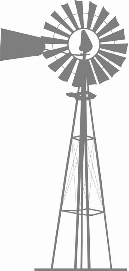 Windmill Clipart Transparent Silhouette Background Farm Wind