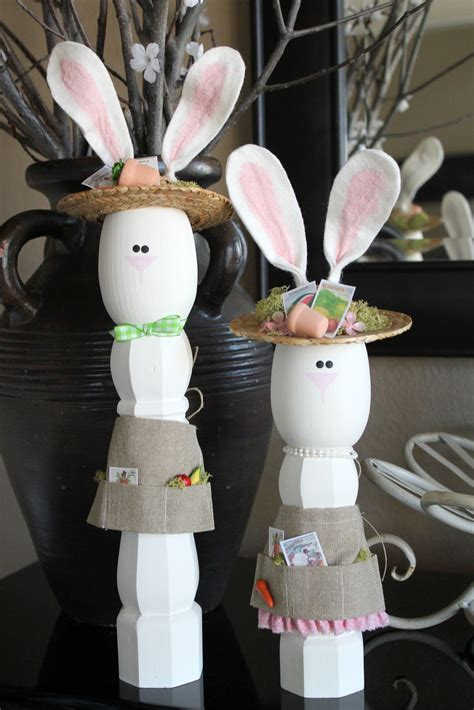 crafty sisters wooden easter bunnies