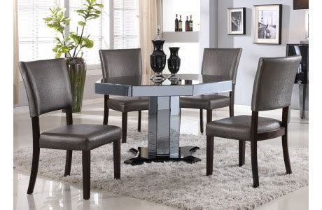 mirrored dining table set wartun mirrored dining room table