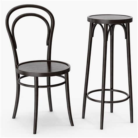 thonet chaise thonet 14 vienna chair and bar stool 3d model max