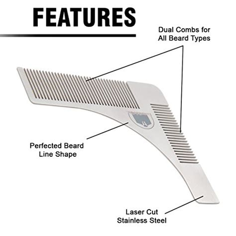 beard shaping template essentials beard shaper comb for symmetric beards import it all