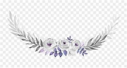 Flowers Invitation Purple Watercolor Decoration Pattern Leaf